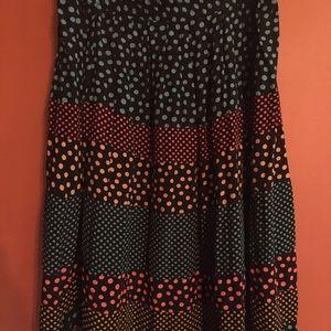 Carole Little Skirts - Vtg Carole Little polka dot midi skirt